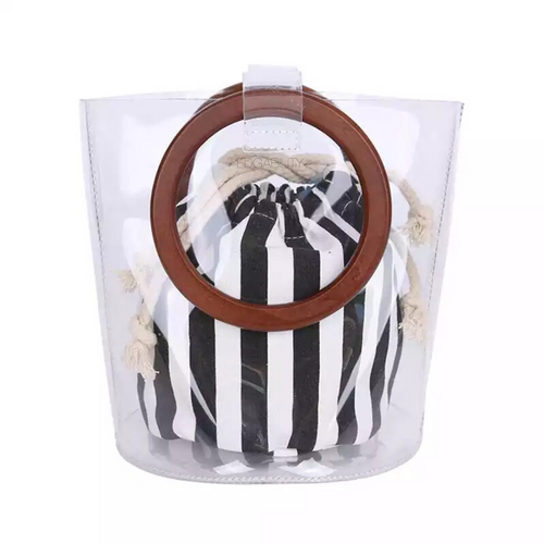 clear bag transparent bag bucket bag edgability