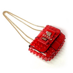 studded bag red sling bag edgability angle view