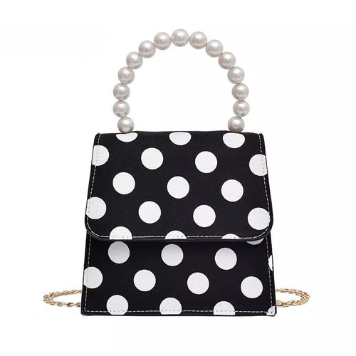 polka dots bag black and white bag classy bag edgability