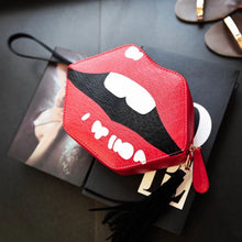 lips bag kiss bag sling bag edgability front view