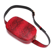 red snakeskin belt waist bag edgability top view