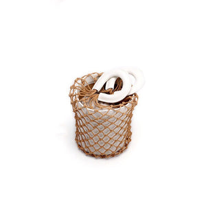 bucket bag basket drawstring bag edgability top view
