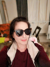leopard sunglasses retro shades edgy fashion edgability model view