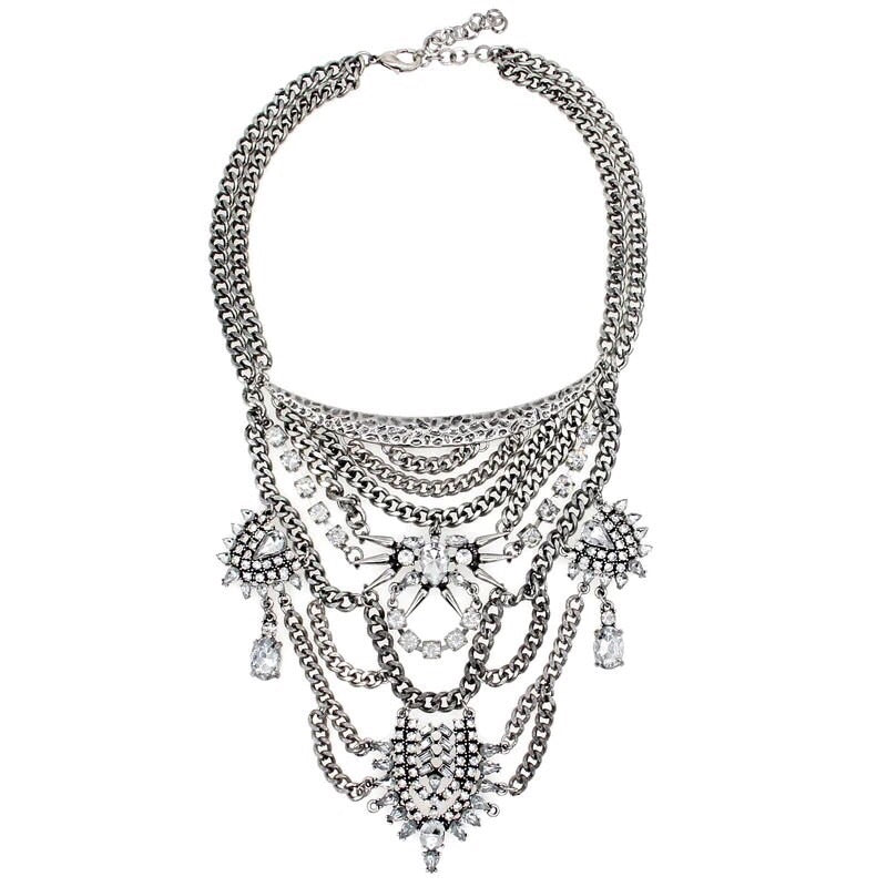 layered necklace statement necklace silver jewellery edgability