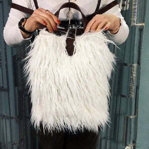 fur bag mini backpack edgability model view