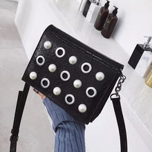 studded bag black bag sling bag edgability angle view