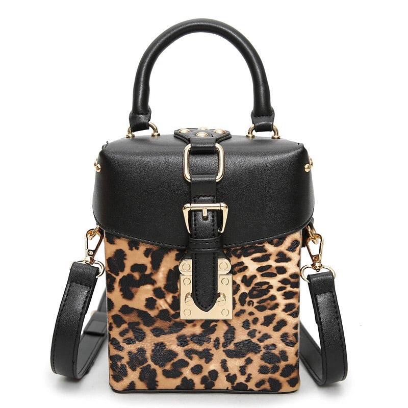 black leopard boxy bag edgability