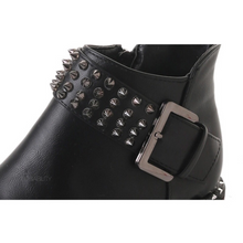 rivets buckle black boots edgability detail view