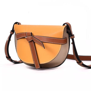 classy bag sling bag crossbody bag yellow bag edgability angle view