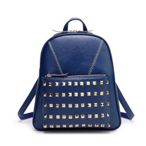 studded blue backpack edgability
