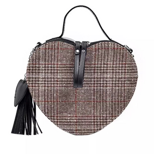 heart shaped bag plaid box bag edgability