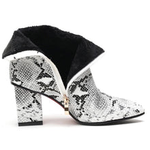 snakeskin boots ankle boots heeled boots edgability open view