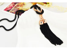 long black necklace black jewelry edgability top view