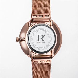 metallic rose gold marble design watch edgability back view
