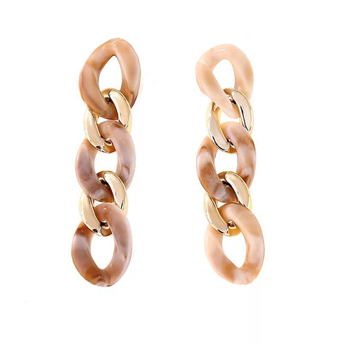chic beige gold earrings chain statement jewelry edgability