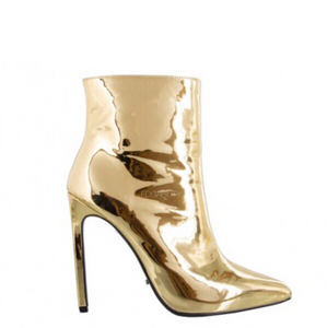 gold boots ankle boots edgability