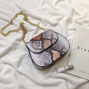 grey ombre snakeskin sling bag edgability top view
