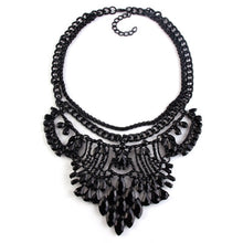 black necklace statement necklace black jewelry edgability