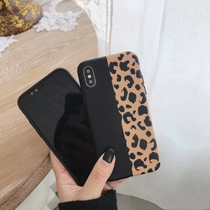 black leopard iphone cover iphone case edgability back view