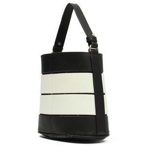 black and white strips edgy handbag edgability