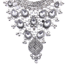 silver necklace statement jewelry edgability ethnic neckpiece front view