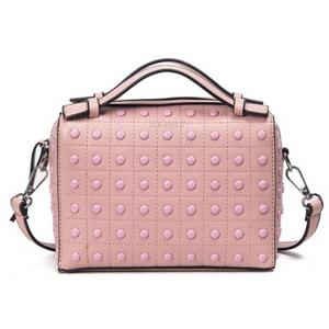 monotoned pink studded bag edgability