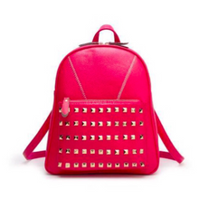 studded crimson backpack edgability