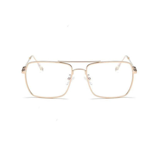 transparent glasses gold frames edgability