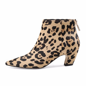 leopard boots ankle boots with heels edgability