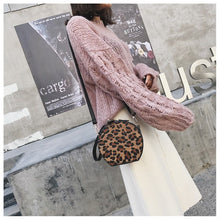 leopard print box bag round bag edgability model view