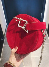 round bag sling bag red bag edgability top view