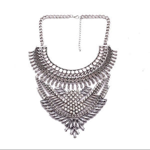 silver statement necklace edgy fashion edgability