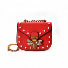 pearl studded butterfly red bag edgability
