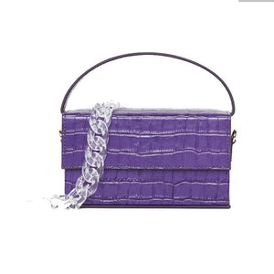 purple croc skin mini micro box bag edgability