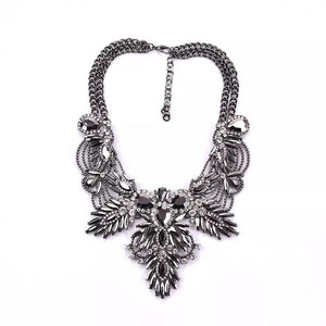 dark silver statement necklace edgy fashion edgability