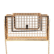 gold metallic bag box bag edgability front view