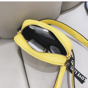 yellow bag waist bag fanny pack edgability open view