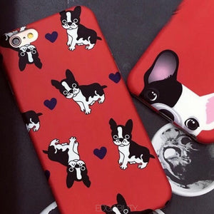 single pup multi pup red iphone case lower view edgability