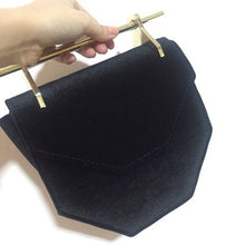 velvet black clutch classy bag edgy fashion edgability front view