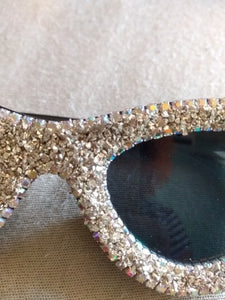 sparkly diamond studded trendy sunglasses retro shades edgability detail view