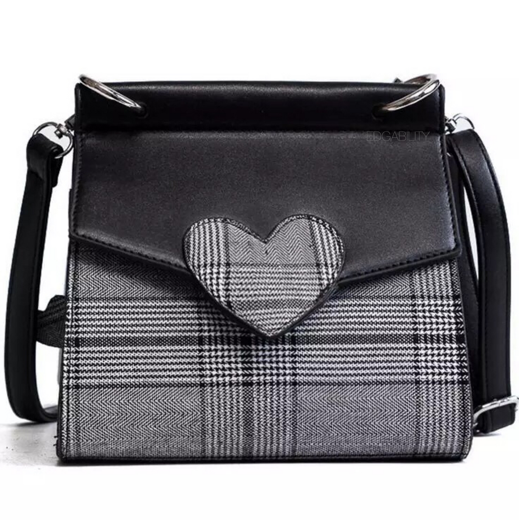 plaid bag heart black bag edgability