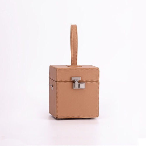 luxe classy brown bag box bag edgability full view