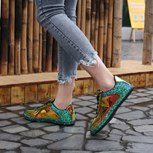 chrome metallic sneakers glitter trainers shoes edgability model view