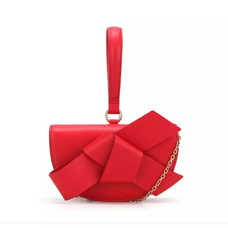 bow on red bag sling bag wristlet belt bag edgability