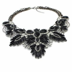 black necklace layered necklace edgability statement jewelryy top view