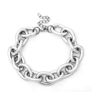 statement necklace silver chain choker edgability