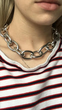 statement necklace silver chain choker edgability model view
