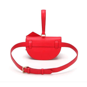 bow on red bag sling bag wristlet belt bag edgability back view