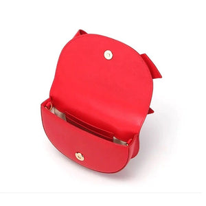 bow on red bag sling bag wristlet belt bag edgability open view
