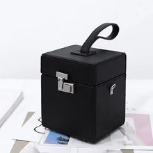 luxe classy black bag box bag edgability side view